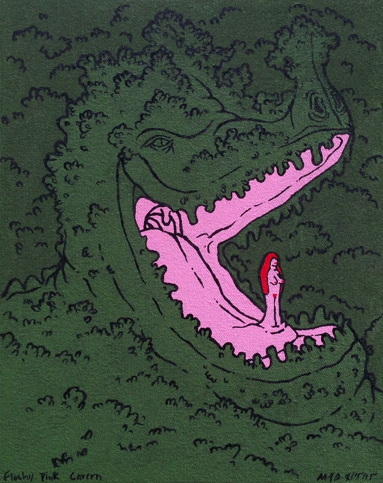 fleshy pink cavern full view