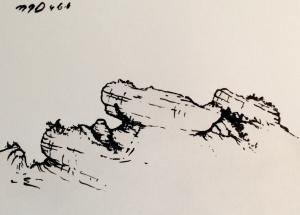Anthropomorphic Mesa Original Painting by MJ Seal