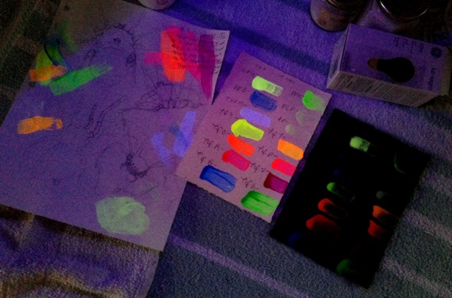 Fluorescent and Phosphorescent Paint Tests 05